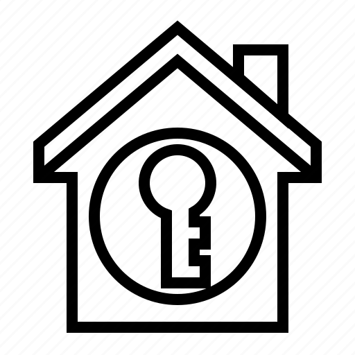 estate, home, key, property, secure icon