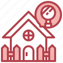sarch, real, estate, house, magnifying, glass