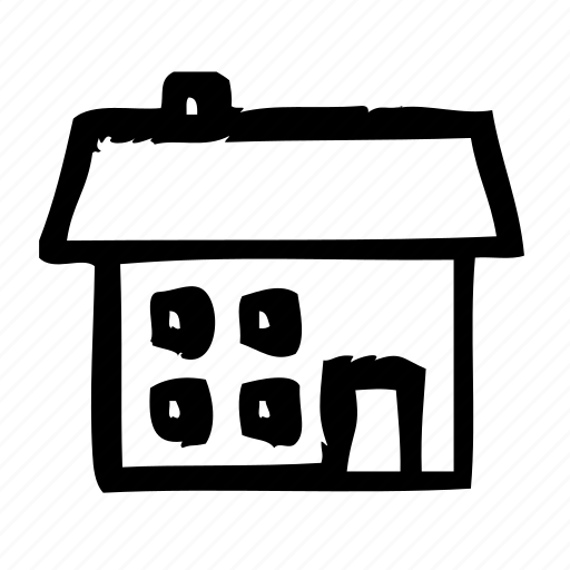 agency, building, estate, house, real, service, small icon