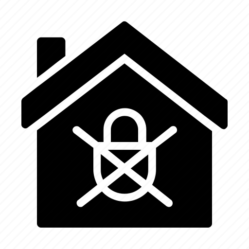 Confiscated, home, house, locked, sealed icon - Download on Iconfinder