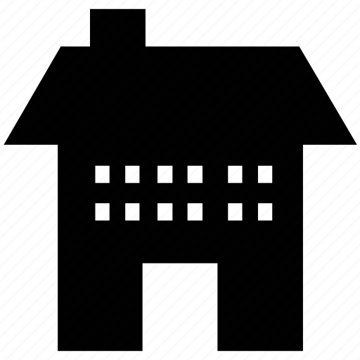 apartment, cottage, lodge, real estate, shop icon
