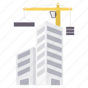 building, construction, factory, in progress, industrial, production, work icon