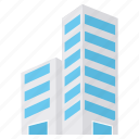 architecture, building, business, construction, estate, office, property icon