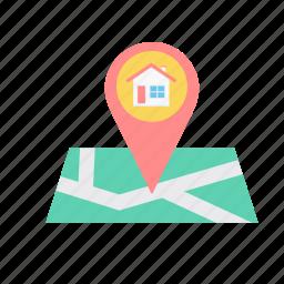 gps, locate us, location, map, navigation, transport, travel icon