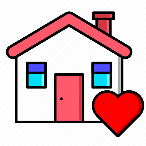 estate, home, house, love, real, rent, sale icon