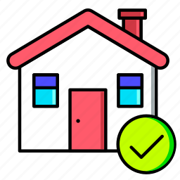 estate, home, house, ok, real, rent, sale icon