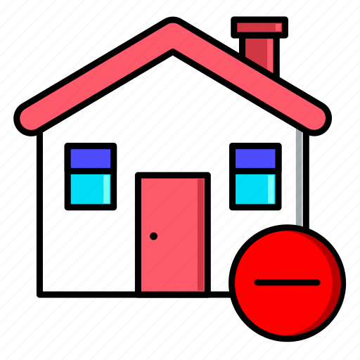 delete, estate, home, house, real, rent, sale icon