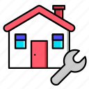 estate, fix, home, house, real, rent, sale icon