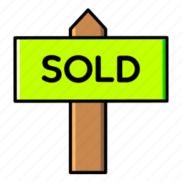 estate, home, house, real, rent, sale, signboard icon