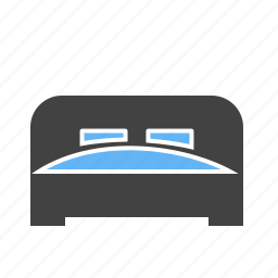 bed, bedroom room, home, mattress, pillow, sleep icon