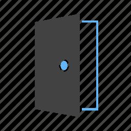 door, doors, doorway, entrance, home, house, wooden icon
