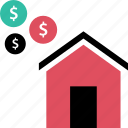 buy, home, house, value icon