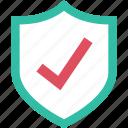 check, mark, ok, shield icon