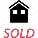 for, house, sale, sold icon
