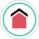 home, house, interface, welcoming icon