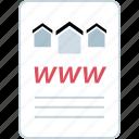 online, page, web, www icon