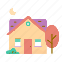 estate, house, moving, real, tree icon