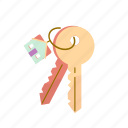 estate, keychain, keys, moving, real icon