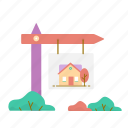 estate, house, real, sale icon