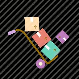 box, estate, loader, moving, real icon