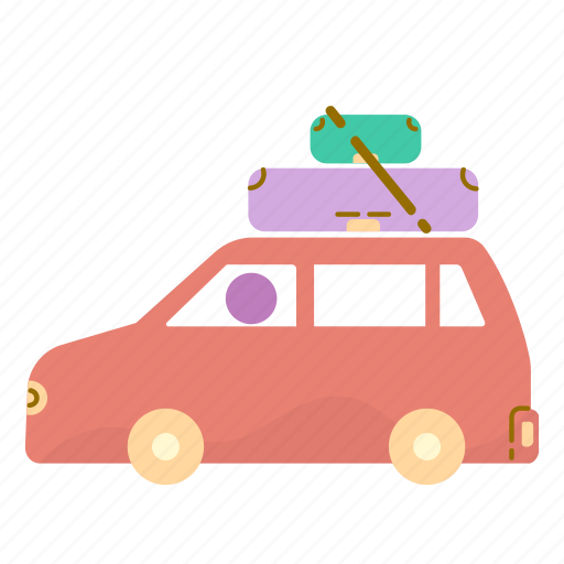 car, estate, moving, real, suitcase icon