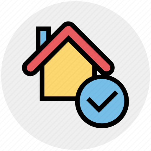 Apartment, check, home, house, property, real estate, tick icon - Download on Iconfinder