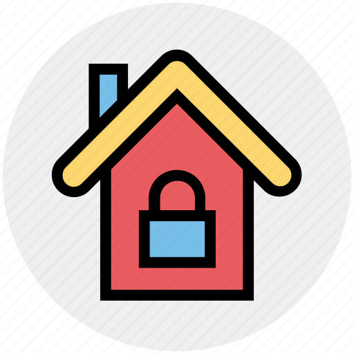Apartment, home, house, house lock, property, real estate, security icon - Download on Iconfinder