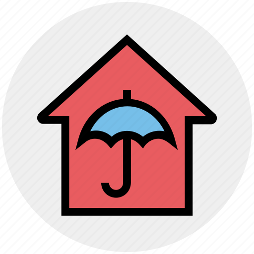 Apartment, home, house, property, real estate, secure, umbrella icon - Download on Iconfinder