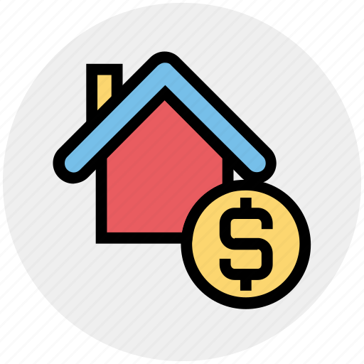 Apartment, dollar, dollar sign, home, house, property, real estate icon - Download on Iconfinder