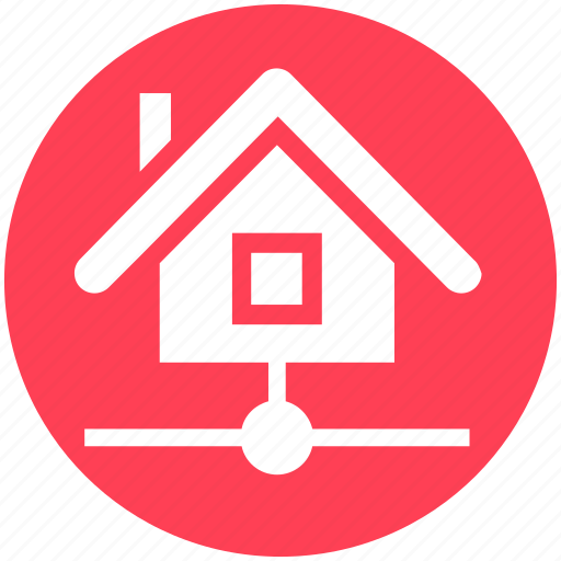 apartment, data, home, house, network, property, real estate icon