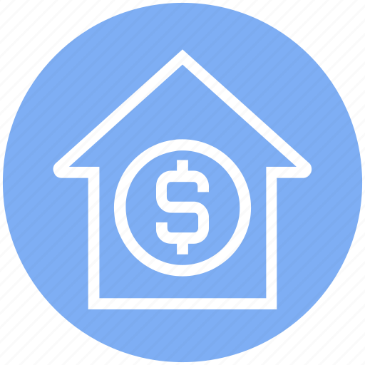 apartment, dollar, dollar sign, home, house, property, real estate icon