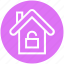 apartment, home, house, house unlock, property, real estate, security icon