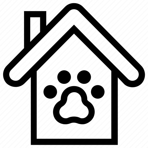 animal, apartment, dog house, home, house, property, real estate icon