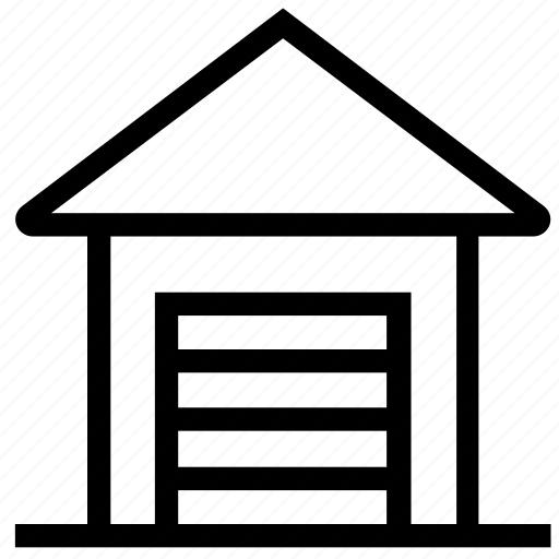 apartment, garage, home, house, property, real estate, warehouse icon