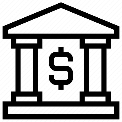 bank, building, court, dollar, government, legal, real estate icon