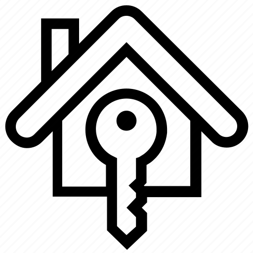 apartment, home, house, key, property, real estate icon