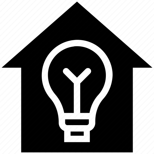 apartment, bulb, bulb light, home, house, property, real estate icon