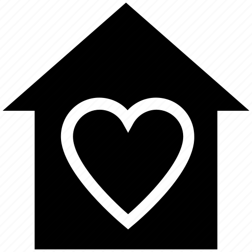 Heart, apartment, house, sweet home, real estate, home, property icon