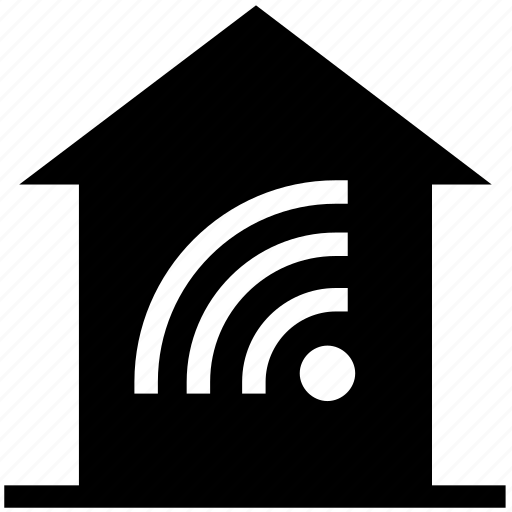 apartment, connection, home, house, property, real estate, signals icon