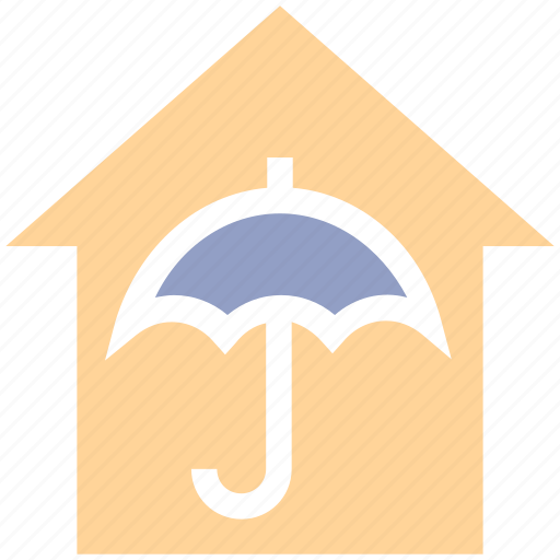 apartment, home, house, property, real estate, secure, umbrella icon