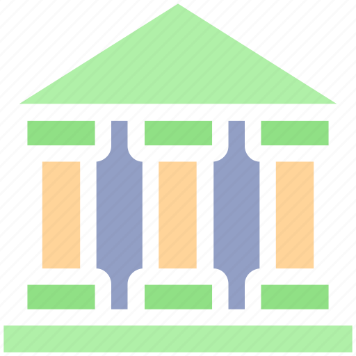 bank, building, court, courthouse, government, law, real estate icon