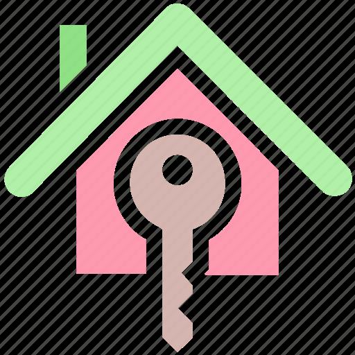 House key, apartment, house, key, real estate, home, property icon