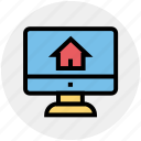 house display, internet, lcd screen, media, real estate, search house, social media
