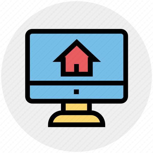House display, internet, lcd screen, media, real estate, search house, social media icon - Download on Iconfinder