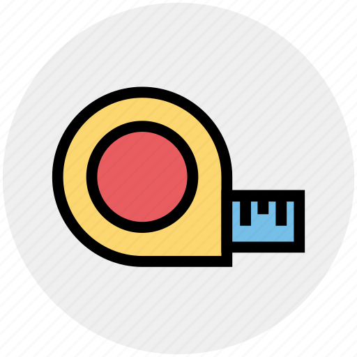 Cartoon, centimeter, inch, inch tape, scale, tailor, tape icon - Download on Iconfinder