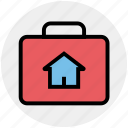 bag, buy, ecommerce, hand bag, home, house, shopping icon