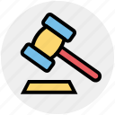court, government, hammer, justice, law, lawyer, legal insurance icon