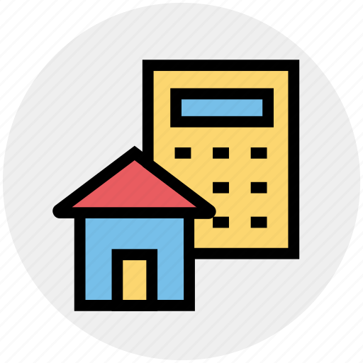 architecture, building, calculator, estate, home, property analyzing, real icon