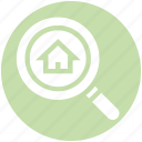 real, search, home, house, real estate, finding, magnifier