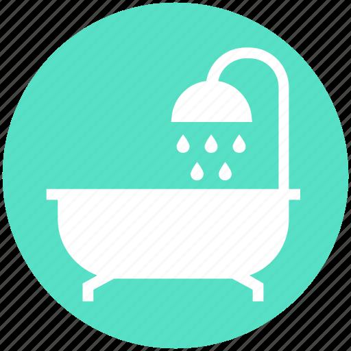 bath, bath tub, douche, shower, shower tub, tub, wash icon